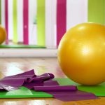 yoga mat and ball